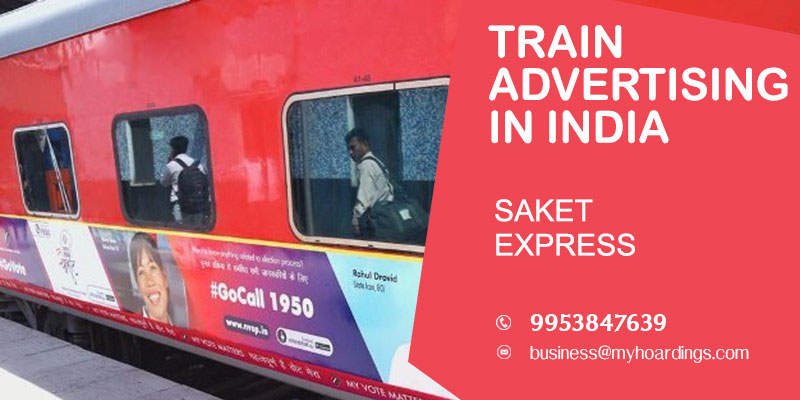 Saket Express Train wrap advertising