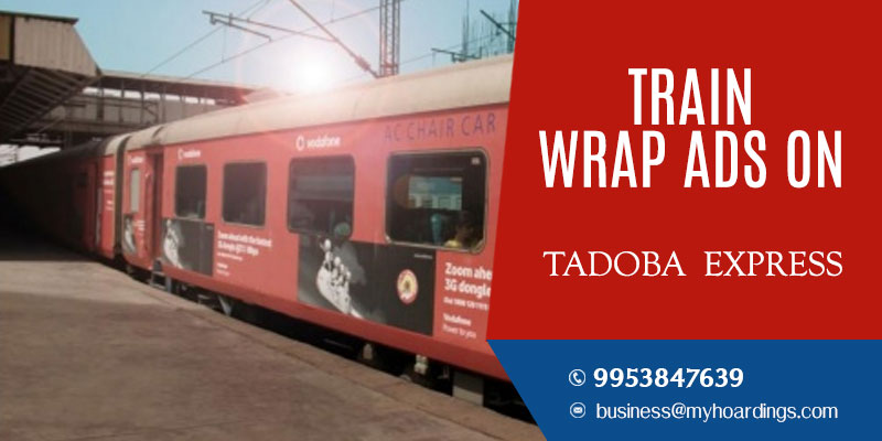 Tadoba Express Train Branding.Train advertising company in Maharashtra and Telangana.