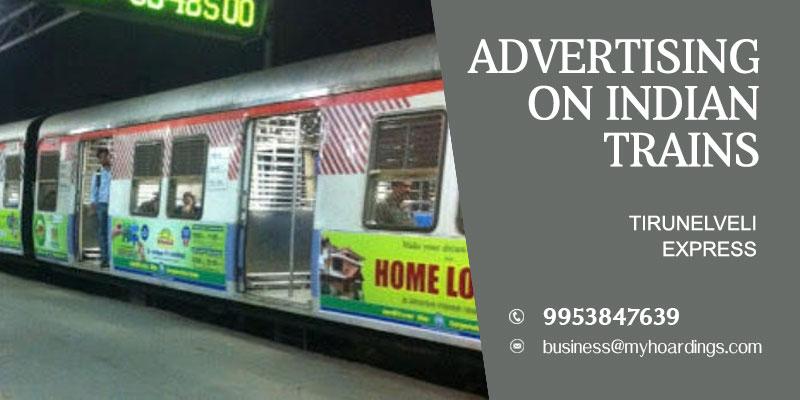 Advertise on Tirunelveli ExpressTrain. Call 9953-847639 for Train branding agency in India.