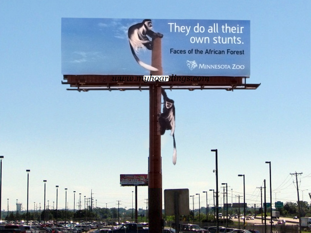 stunt by monkeys outdoor Ads, Billboard Advertising, Creative Ads