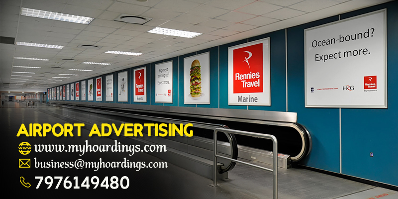 Airport advertising options, LED display boards at Indian Airports, Kolkata Airport Trolley Ads, Advertising Agency