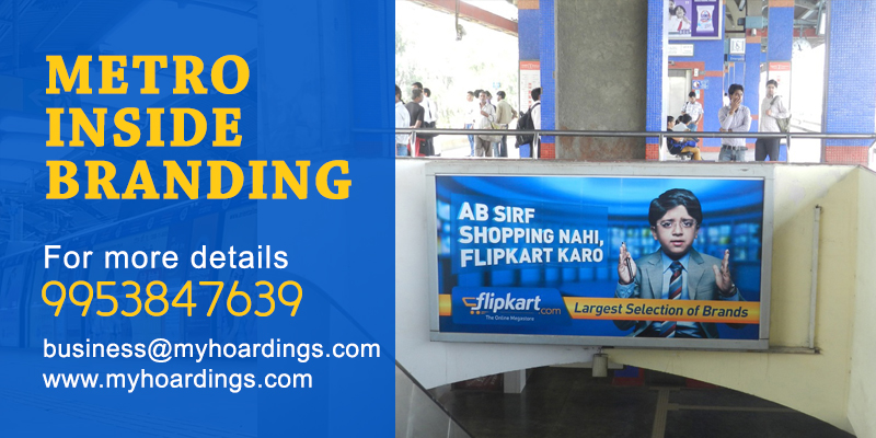 Metro station branding from MyHoardings. Rajiv Chowk Metro station Branding,Delhi Metro branding agency.DMRC media booking company