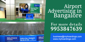 Bangalore Airport Advertising services.Airport lounge Ads, Airport Trolley Branding India
