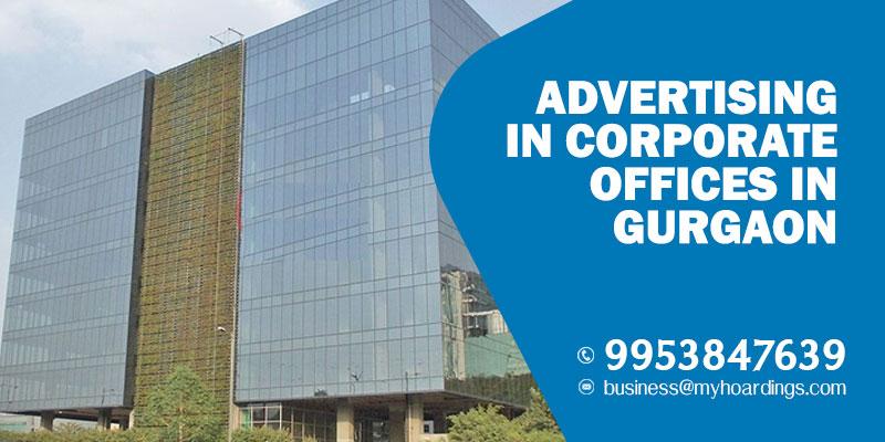 Tech park branding in Gurugram.Advertising in Corporate Offices in Gurgaon. Kiosk setup in software companies in Gurgaon.