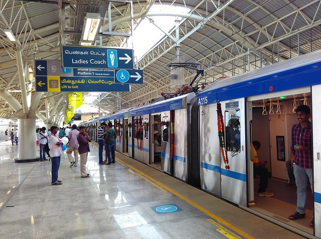 Chennai metro train station advertising.Metro train wrap, Inside Panel and Metro stations for branding activities in Chennai.