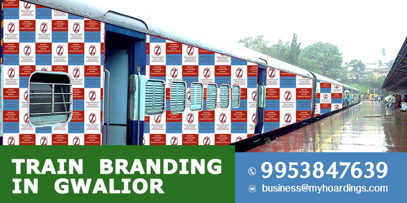 Train Branding in Gwalior. Best Railway Outdoor Advertising company in Madhya Pradesh for Railway station and Train wrap Ads.