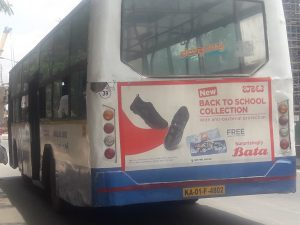 Non AC Bus Branding on BMTC buses.Bengaluru Bus Advertising becoming hot transit media after Hoardings ban inBangalore.Bus Advertising,BMTC Bus Ads,Bangalore Bus Advertising