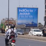 Indigo choose large OOH Billboards to promote Daily Non-stop flights from Mumbai to Jeddah