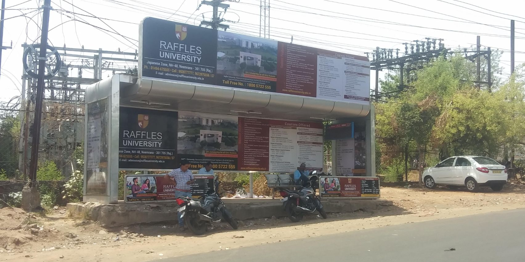 Bus Shelter in Bhopal. Bus Shelter OOH Media Campaign in Madhya Pradesh