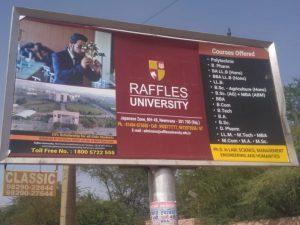 Raffles University Outdoor Media Campaign