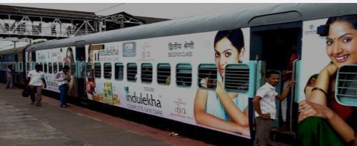 BEST rates of Train Advertising. Largest Train Branding Company for Mumbai Local,Delhi Train Ads and Bangalore train branding.