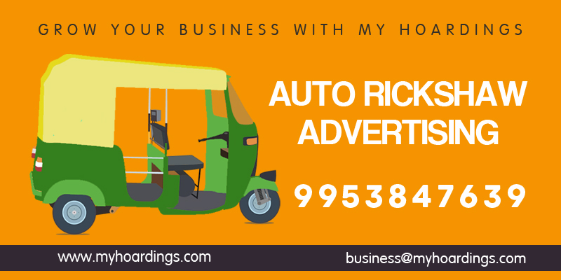 Auto Rickshaw Advertising, Auto Branding Agency in Delhi Noida NCR. Best rates of Auto Hood branding and Auto Sticker advertising.