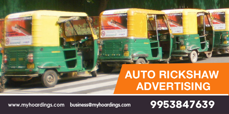 Auto Rickshaw Advertising, Auto Branding Company in Delhi Noida NCR. Best rates of Auto Hood branding and Auto Sticker advertising cost