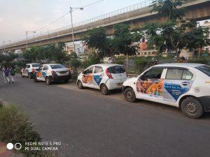 Car Branding campaign in Kolkata. OOH Cab Branding,Car Branding,Taxi Advertisement,Ola Cab Branding,Ola Uber Car Advertising