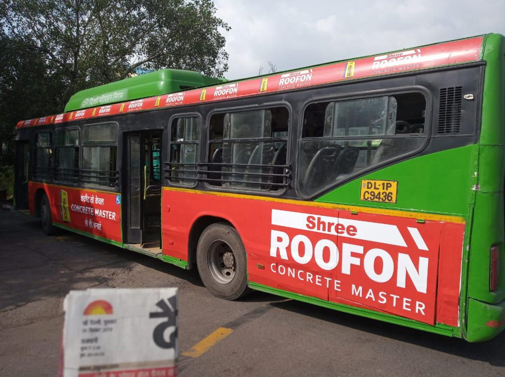 Shree Cement OOH ad campaign as Transit Media,DTC Bus Branding,Bus Advertisement,Bus Branding