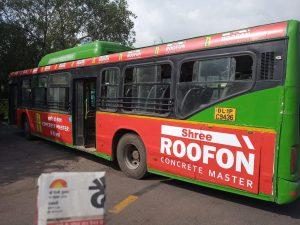 DTC bus advertising in Delhi