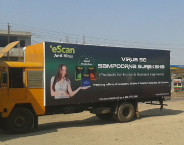 HowTruck Advertising in India can take your brand to places ? Contact MyHoardings for Canter Advertising on Indian Highways.