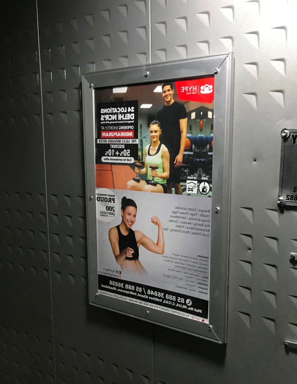 Lift advertising Delhi, Gurugram Elevator Branding,Lift advertisement in Noida