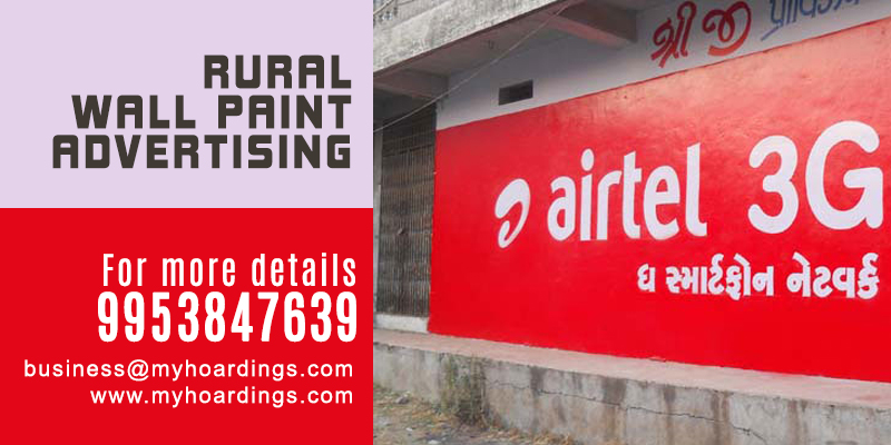 Rural marketing with Wall Painting   Rural Advertising in India