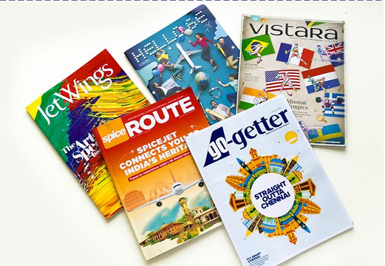 Inflight magazine advertising, Airline Advertising, Magazine ads in Airlines