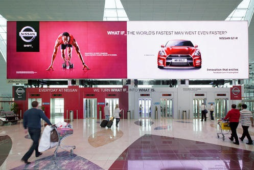 MyHoardings provide Airport Advertising services on Hyderabad Airport at best rates. Various Airport ad options like DOOH, Trolley Ads, Airport Hoardings.