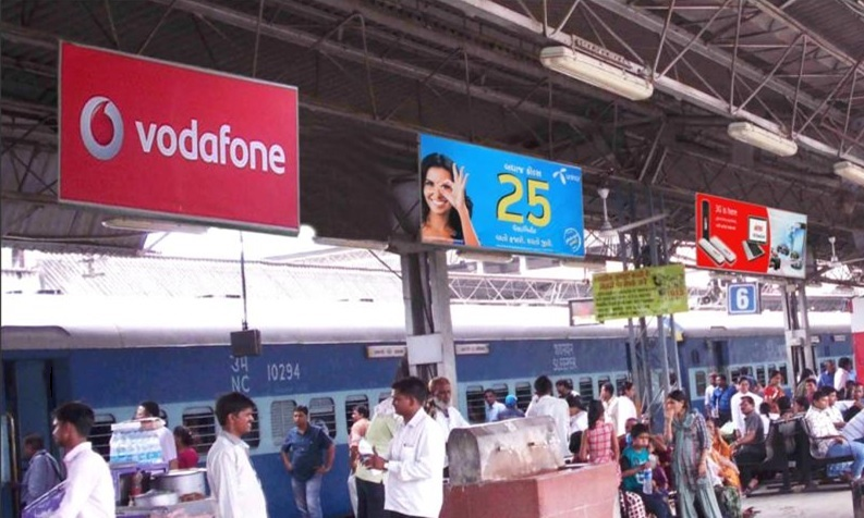 Advertising on Bangalore Railway Platforms, Railway station advertising, Indian Railway branding, Railway platform branding, Train branding company