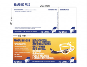 Boarding Pass Advertising, E-ticket Advertising, Airline advertising agency, airline ads