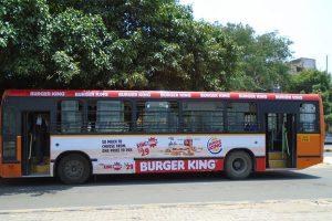 Gurgaon Bus Advertising Services, Gurugram Bus Branding, Gurugram bus ads, Ad agency in Gurgaon, Transit Media, Bus back panel ads, Haryana bus branding