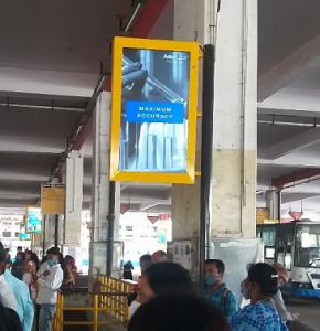 DOOH Ad Campaign, Aster Labs, BMTC bus station, Bengaluru ad agency, DOOH branding, Digital OOH Advertising.
