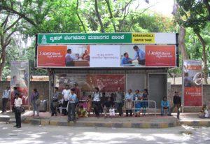 bus branding in bangalore, bus shelter advertising in bengaluru, bus stop ads.