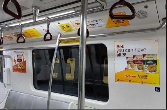 Bengaluru Metro Interior Branding, Metro Branding in India, Bangalore Ad Agency