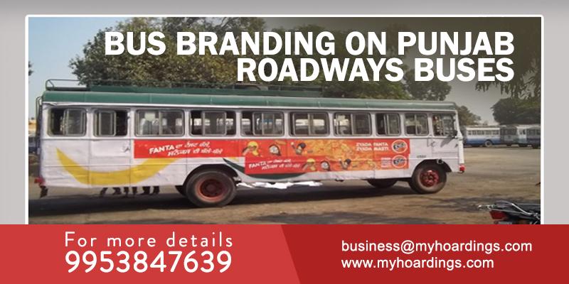 Bus branding in Punjab,Punjab Roadways bus advertisement Branding,Bus advertising